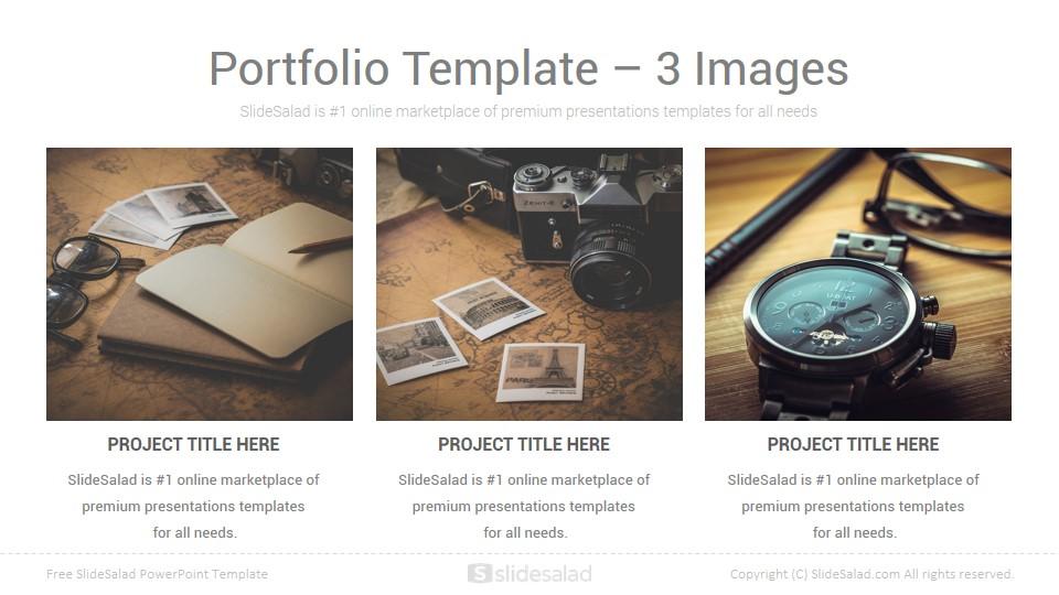 Free Business Portfolio PowerPoint Template - SlideSalad
