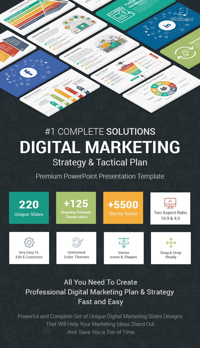 Best Digital Marketing Powerpoint Ppt Template Slidesalad
