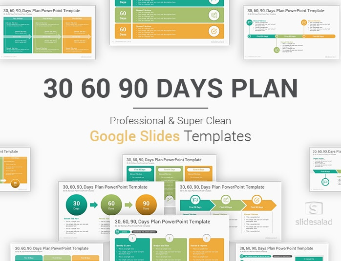 30 60 90 Days Plan Google Slides Template Slidesalad