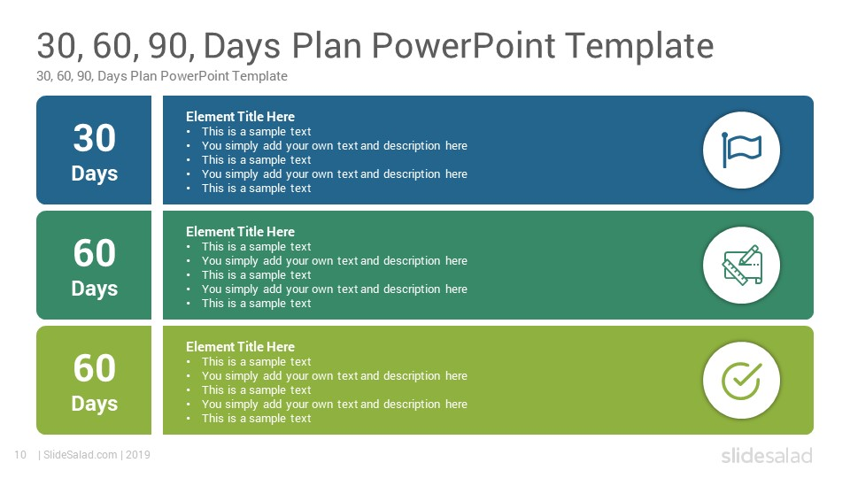 30 60 90 Days Plan Powerpoint Template Slidesalad