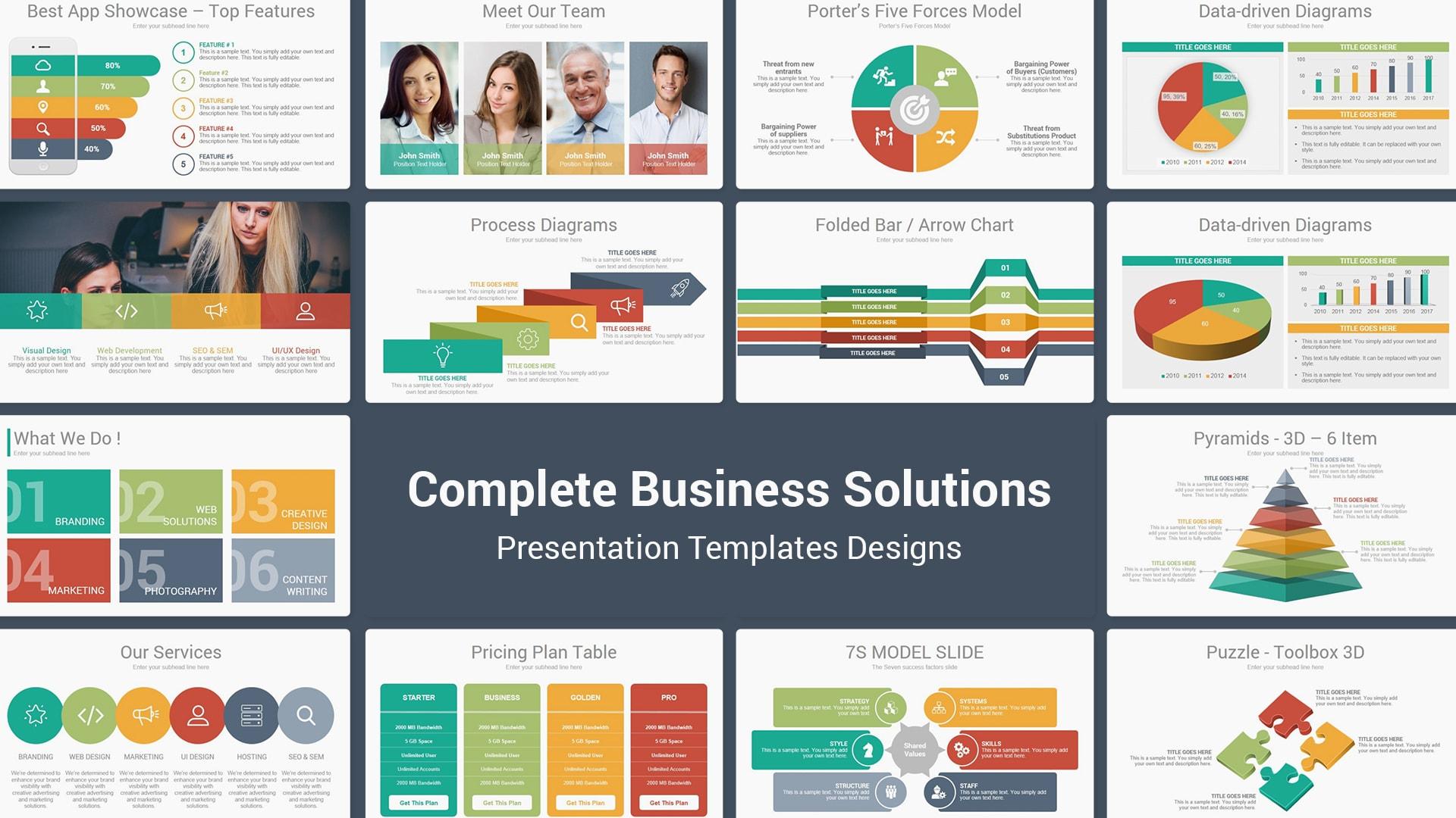 Complete Business Solutions Multipurpose Presentation Templates