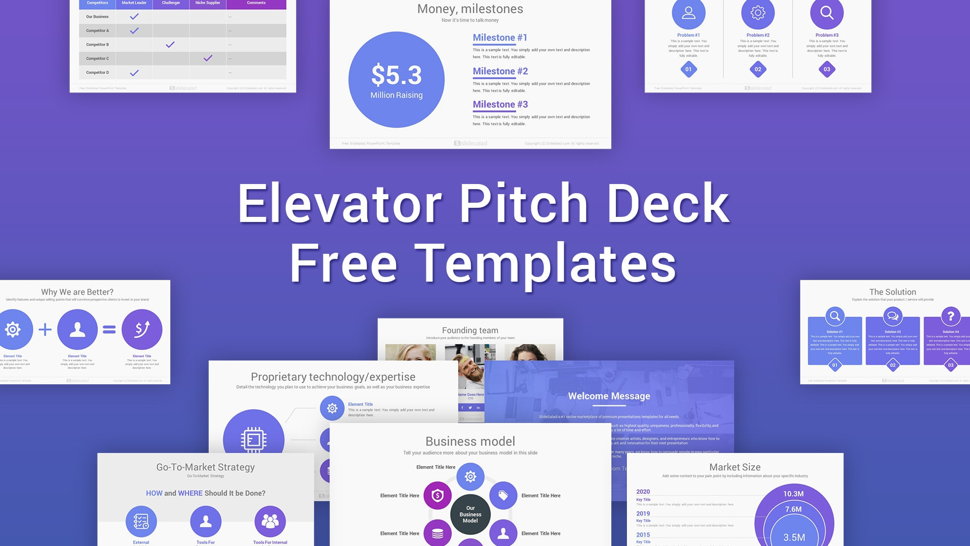 Elevator Free Pitch Deck Templates PPT and Google Slides