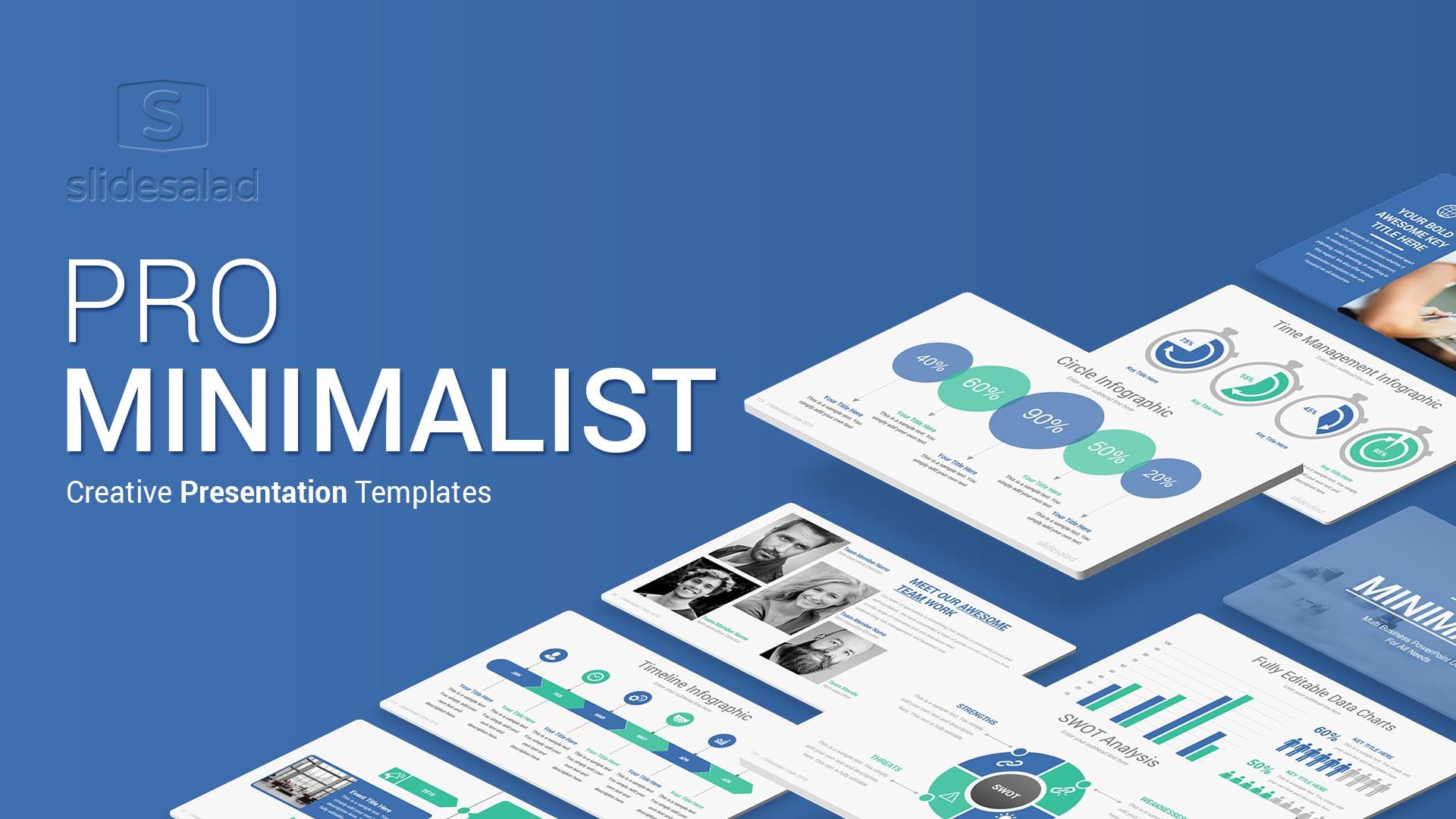 Pro Minimalist Presentation Templates Designs