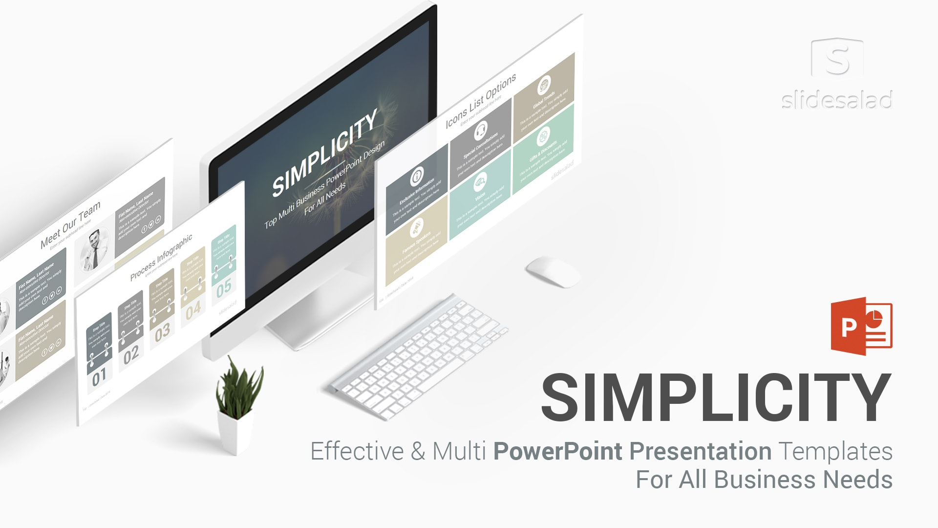 Simplicity – Professional Business PowerPoint Template Design
