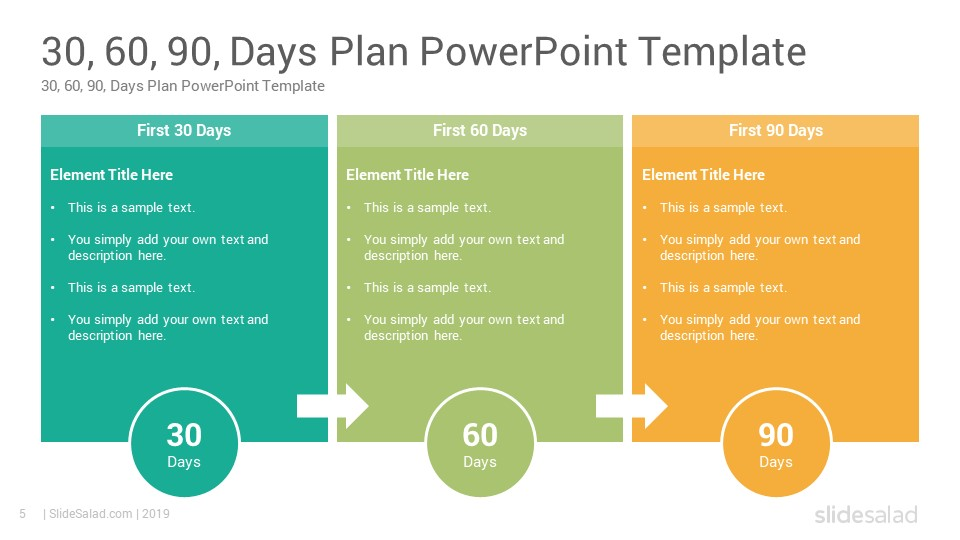30 60 90 days plan google slides template