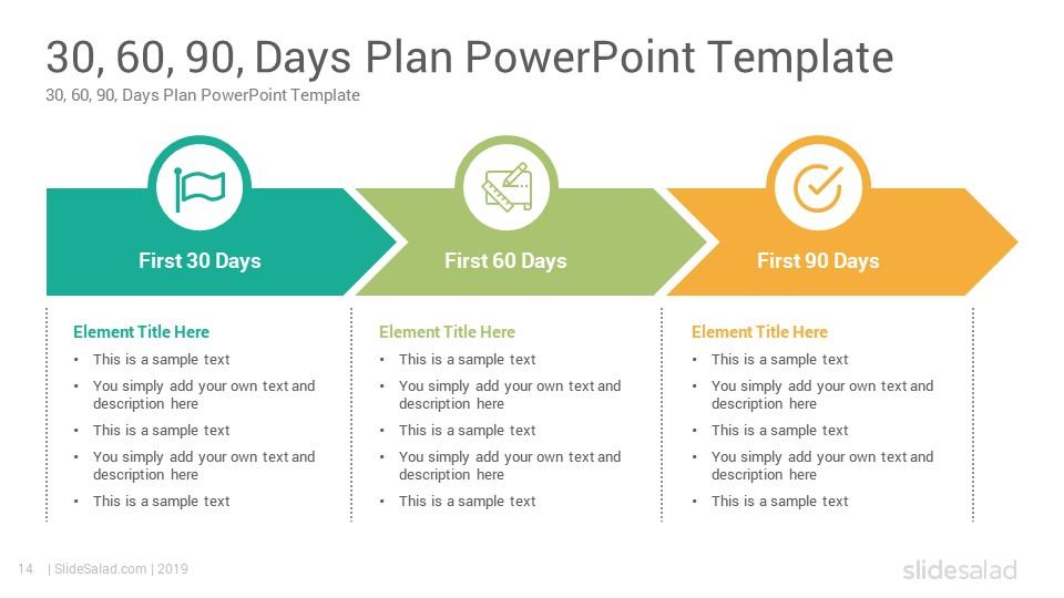 30 60 90 Days Plan PowerPoint Template - SlideSalad