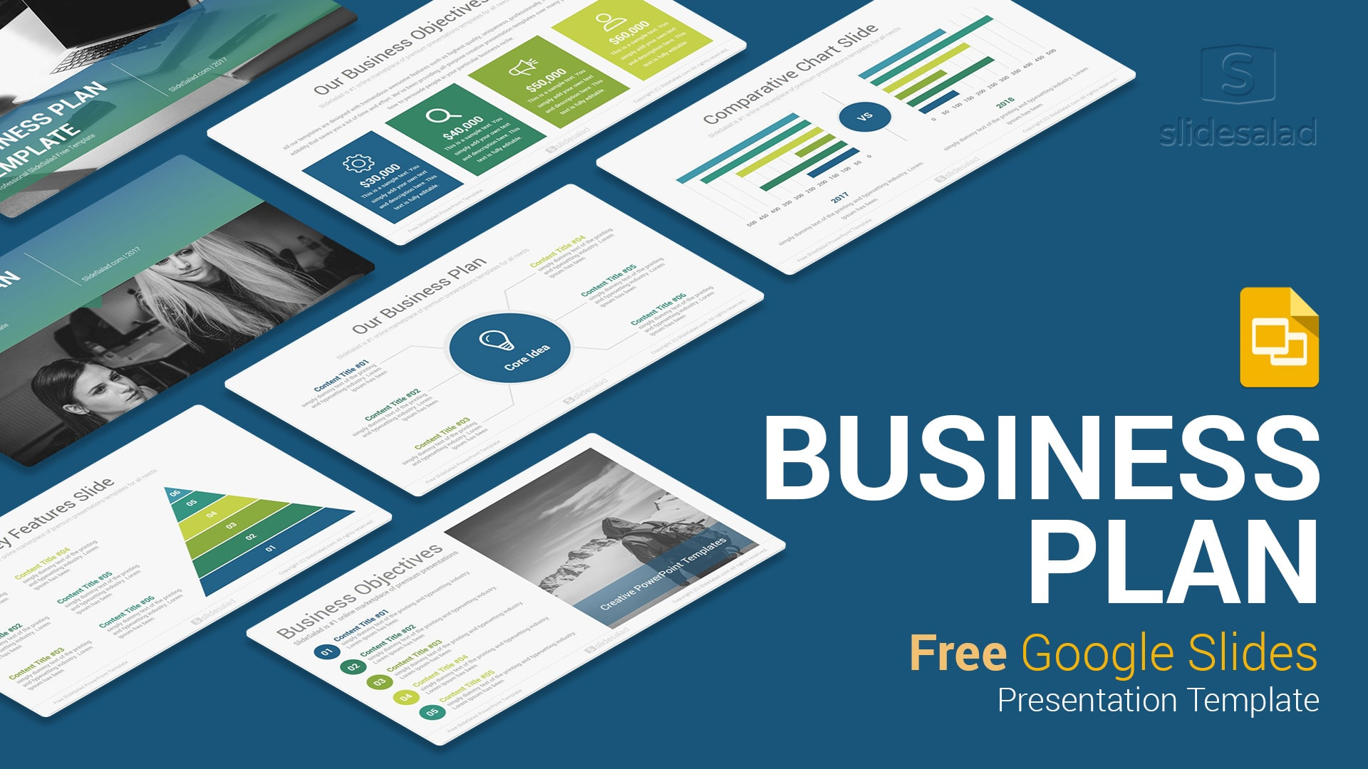 business plan free google slides presentation template