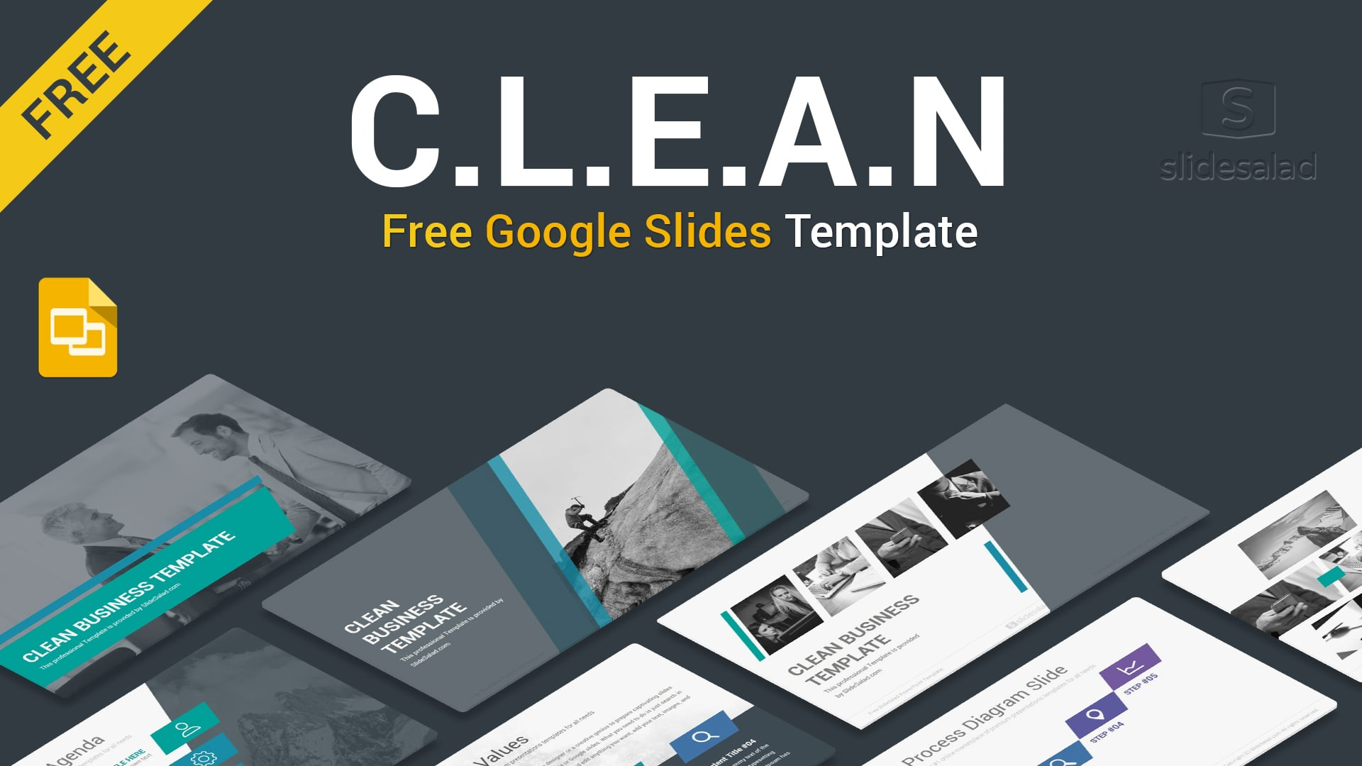 Clean Free Google Slides Themes Template