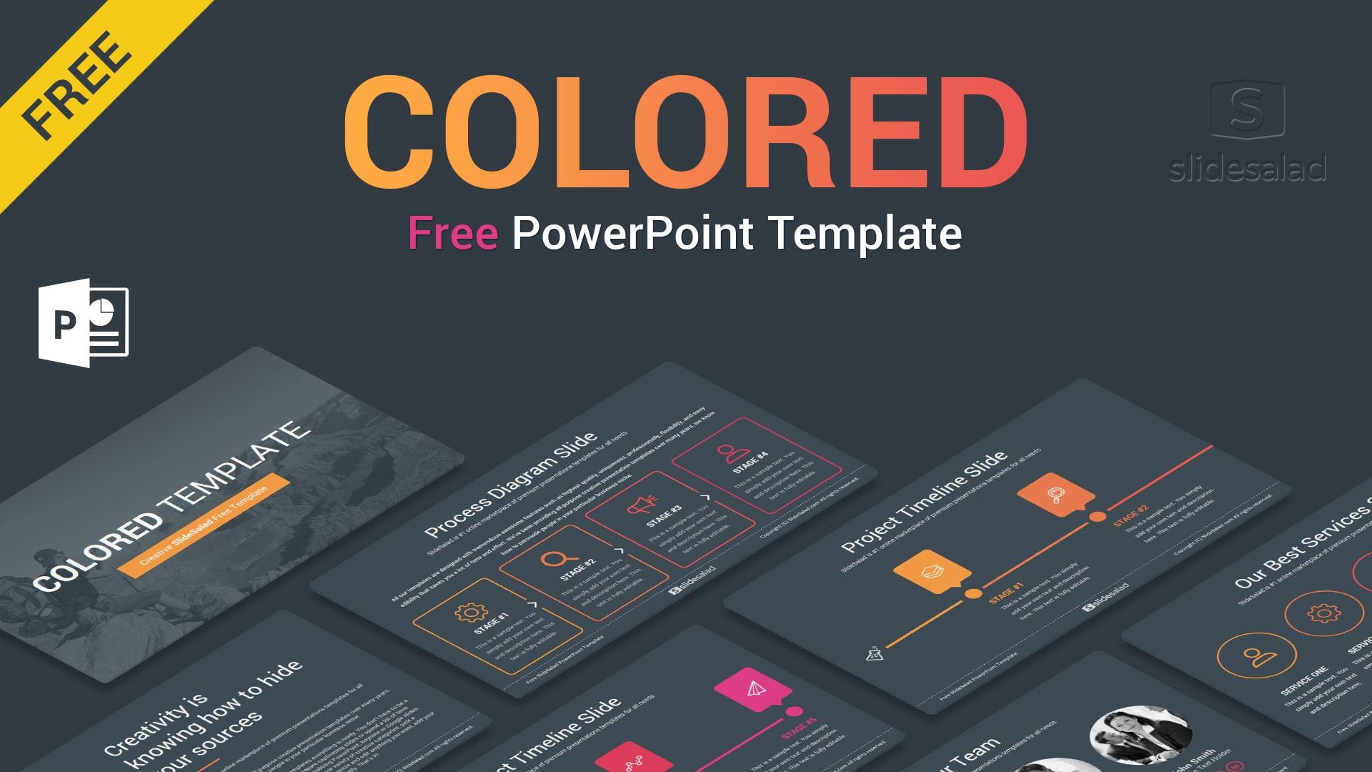 Colored Free Business PowerPoint PPT Themes