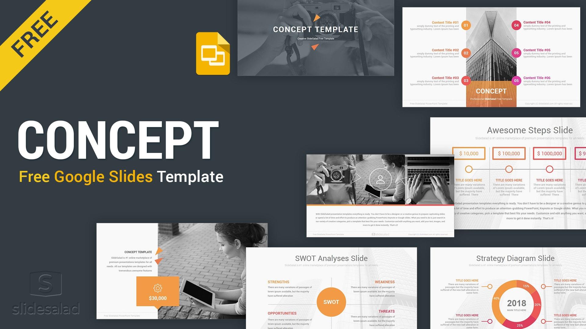 Concept Free Google Slides Presentation Template