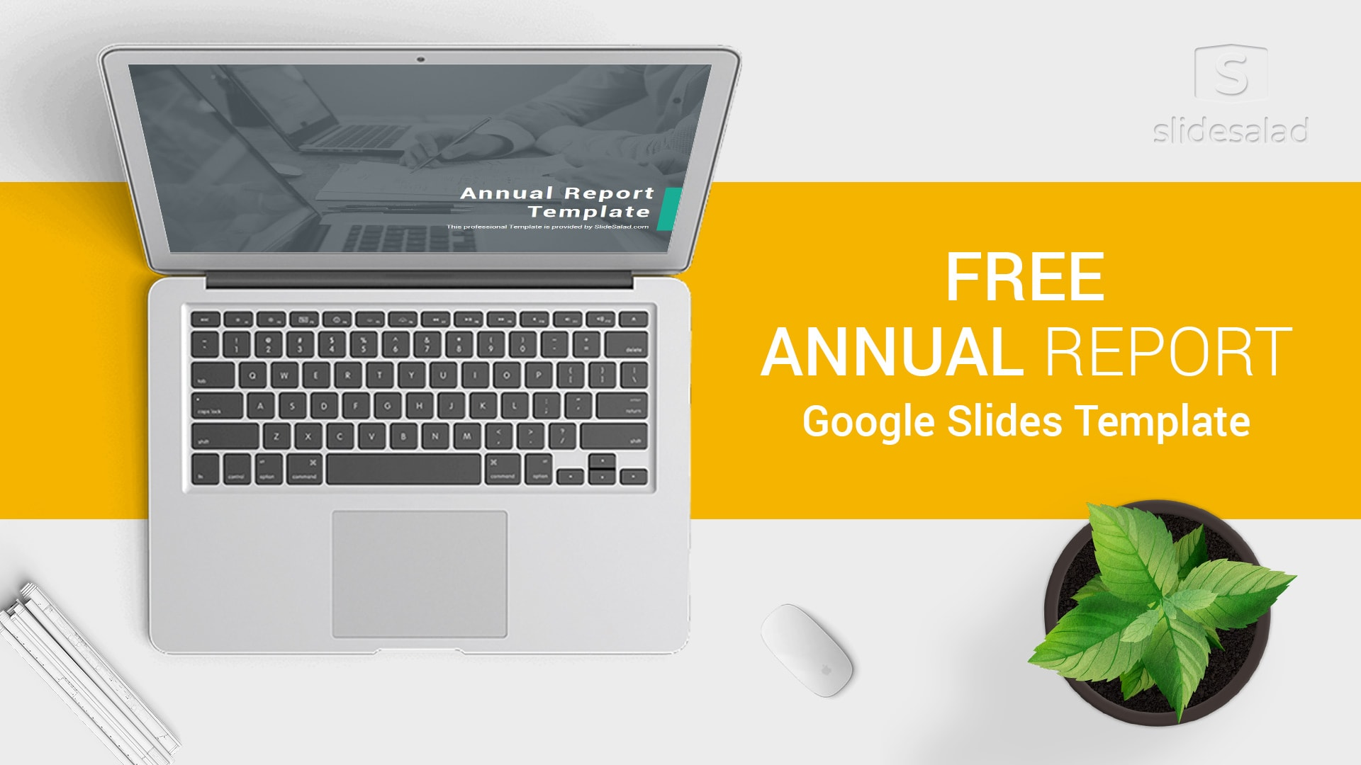 Free Download - Annual Report Google Slides Template for Presentations
