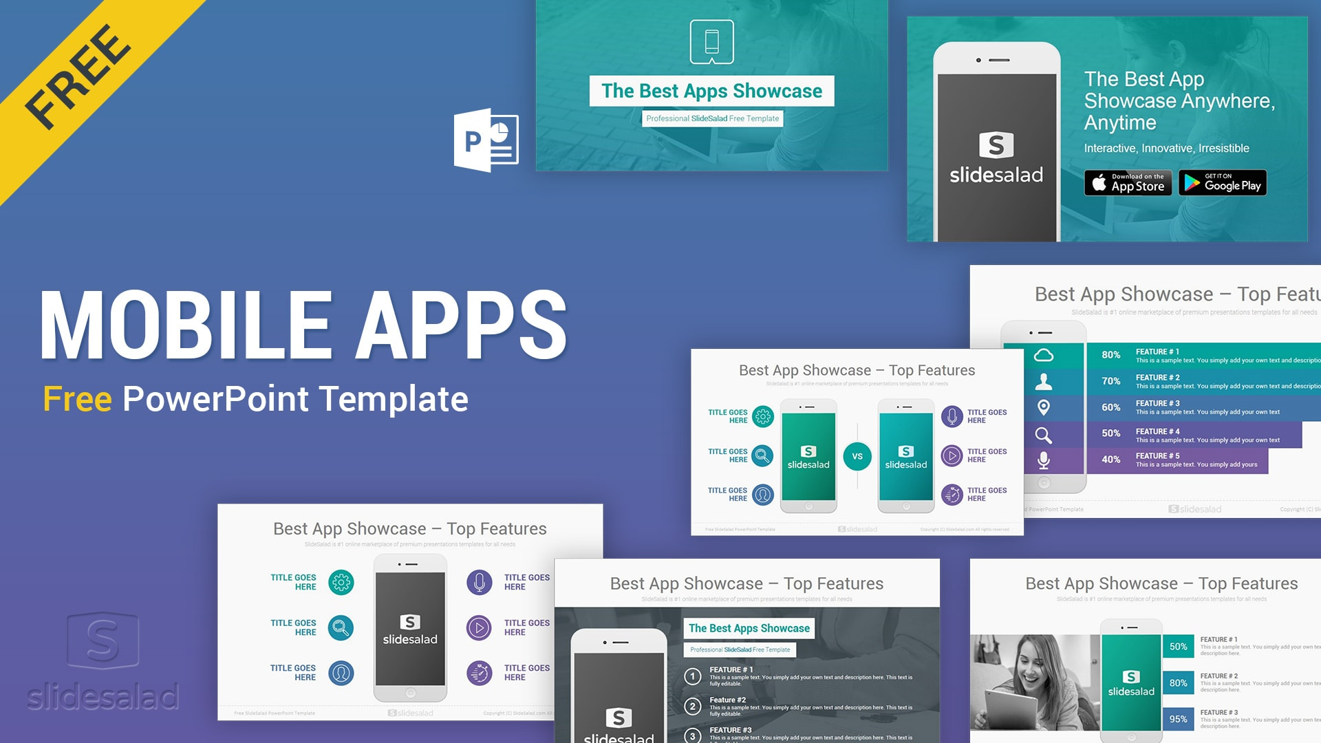 Free Mobile Apps PowerPoint Presentation Templates