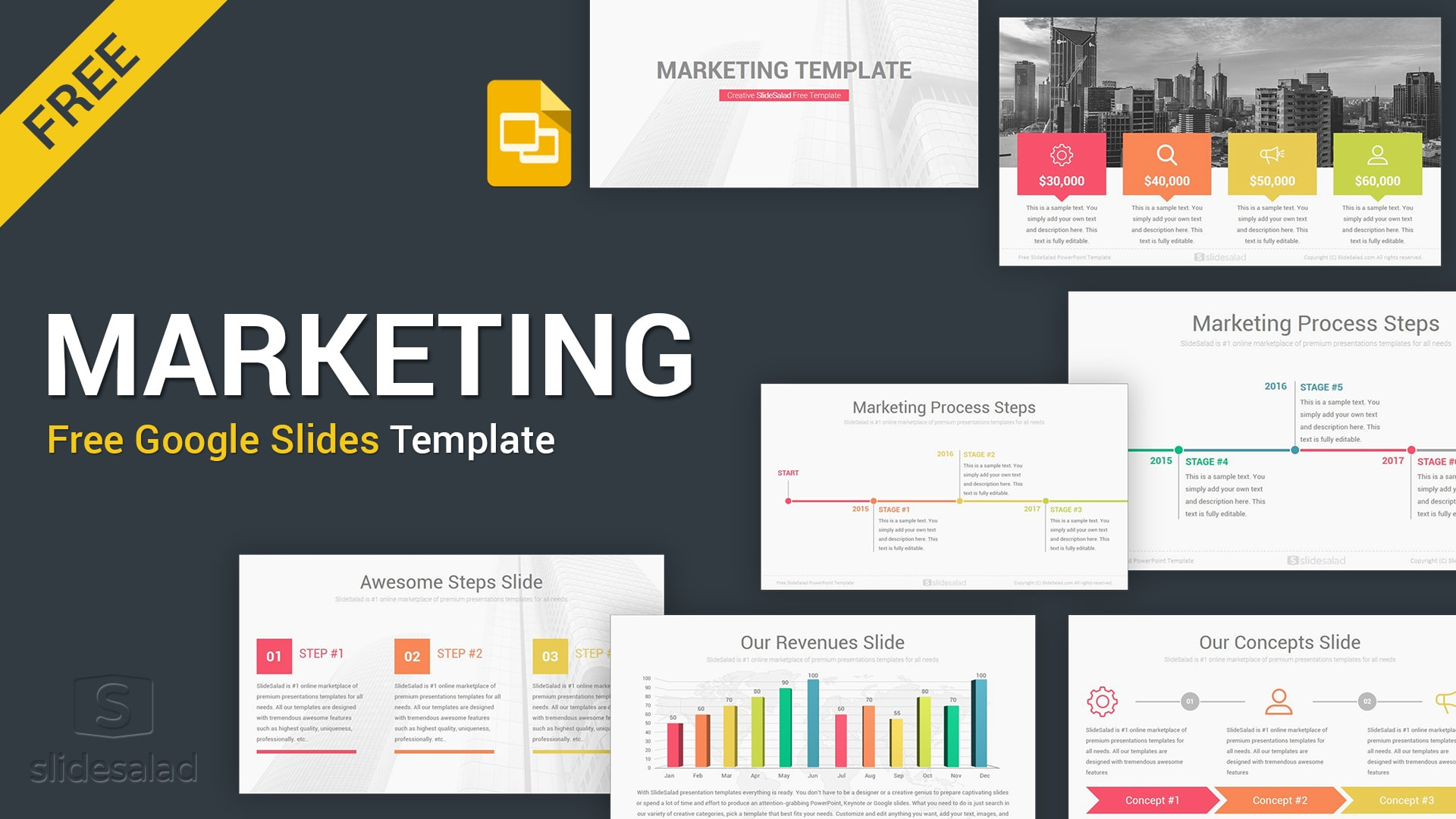 Marketing Google Slides Themes Template Designs - Free Download