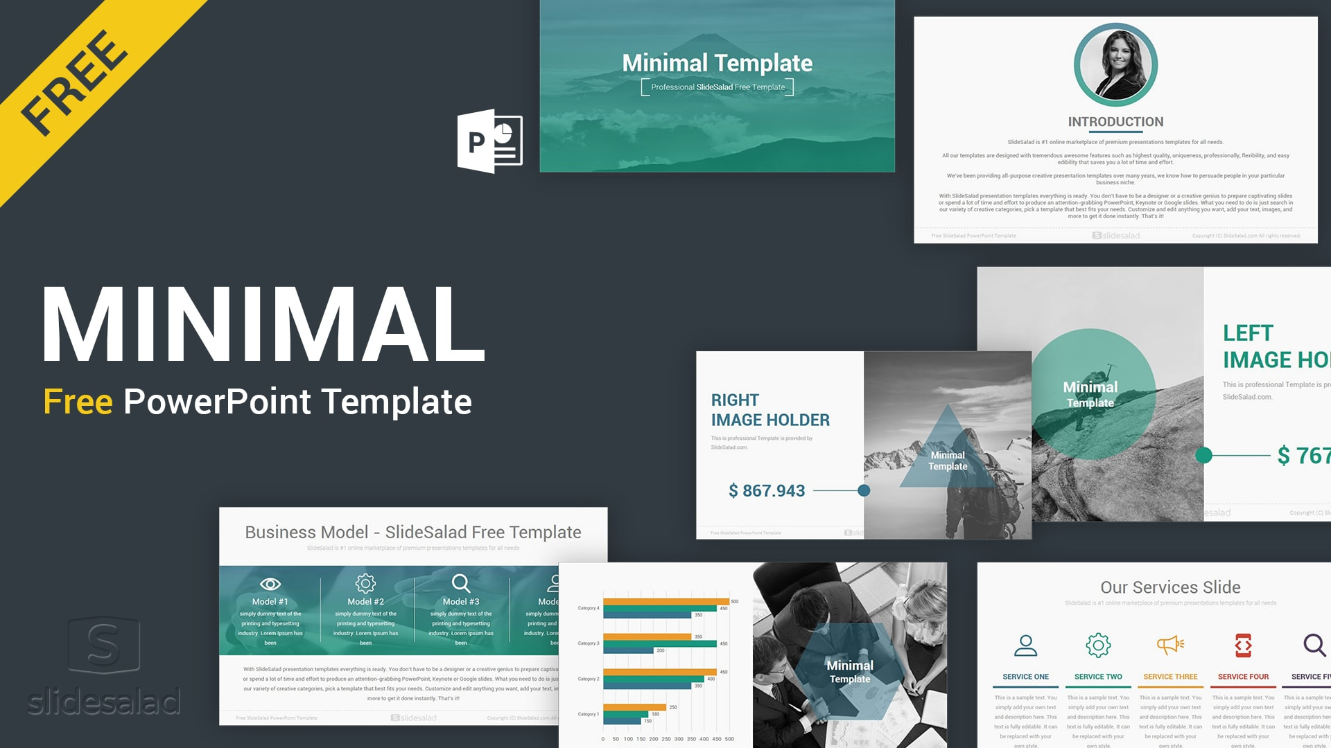 minimal free download powerpoint template
