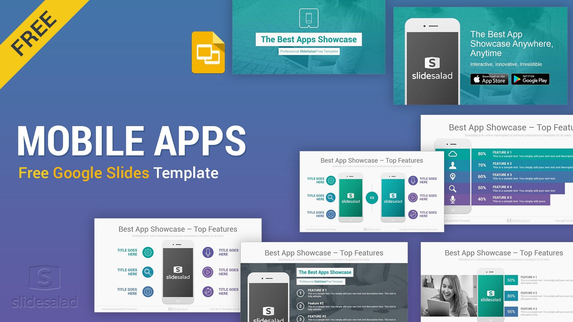 Mobile Apps Free Google Slides Presentation Template