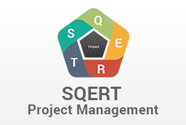 SQERT Project Management PowerPoint Template PPT Model Diagrams