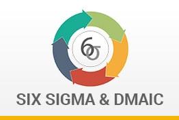 Six Sigma and DMAIC Model Google Slides Templates Diagrams