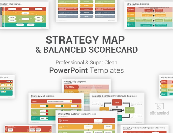 Strategy Map And Balanced Scorecard Powerpoint Templates Slidesalad