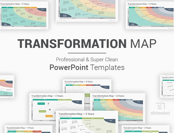 Transformation Map PowerPoint Templates Diagrams PPT Examples