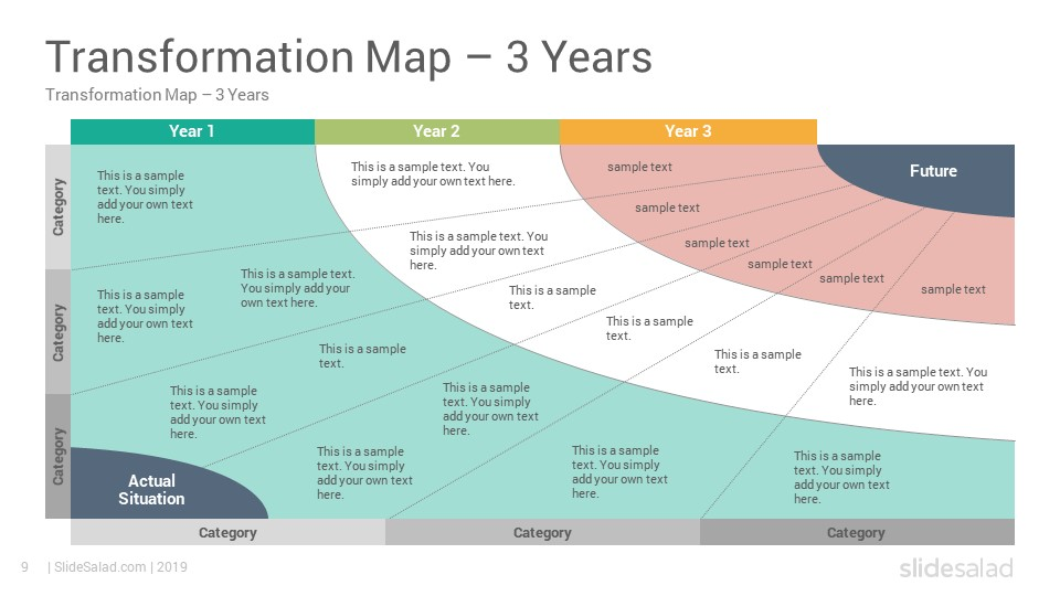 Transformation Map Powerpoint Templates Diagrams