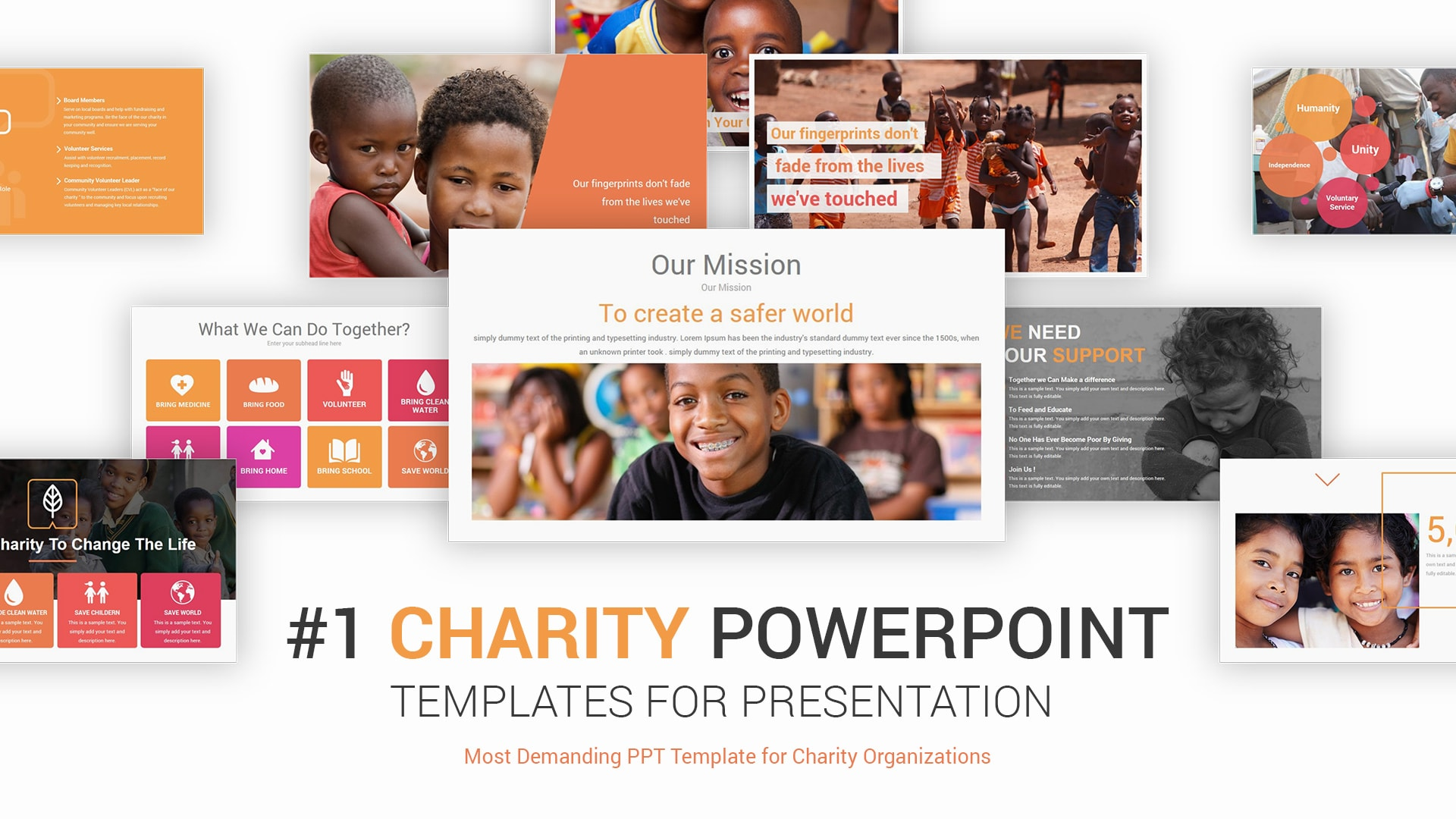 Charity PowerPoint Presentation Template