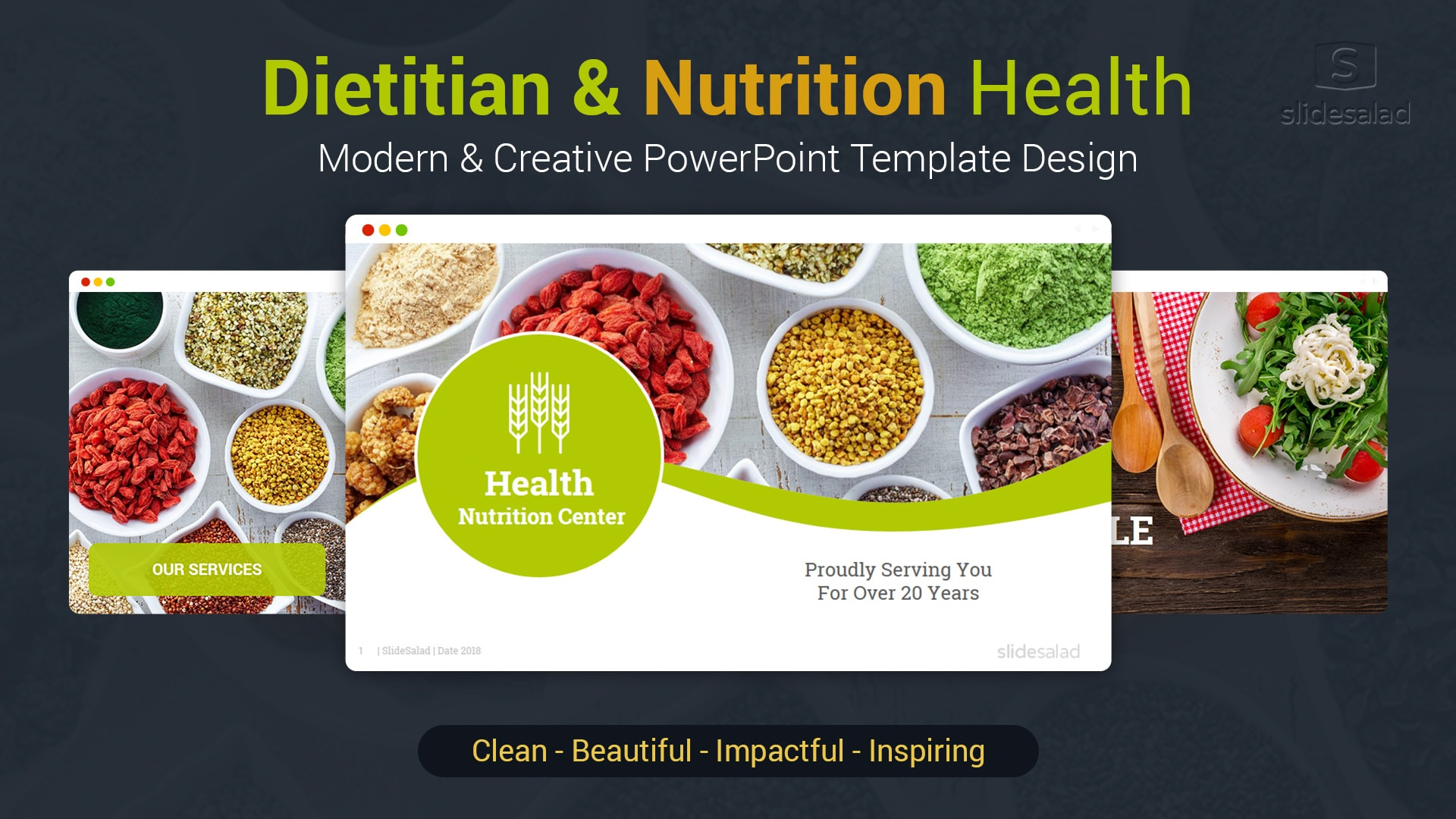 Diet and Nutrition PowerPoint Template Designs