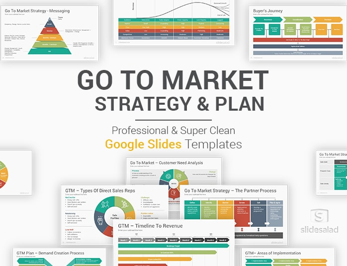 Go To Market Strategy and Plan Google Slides Templates Diagrams