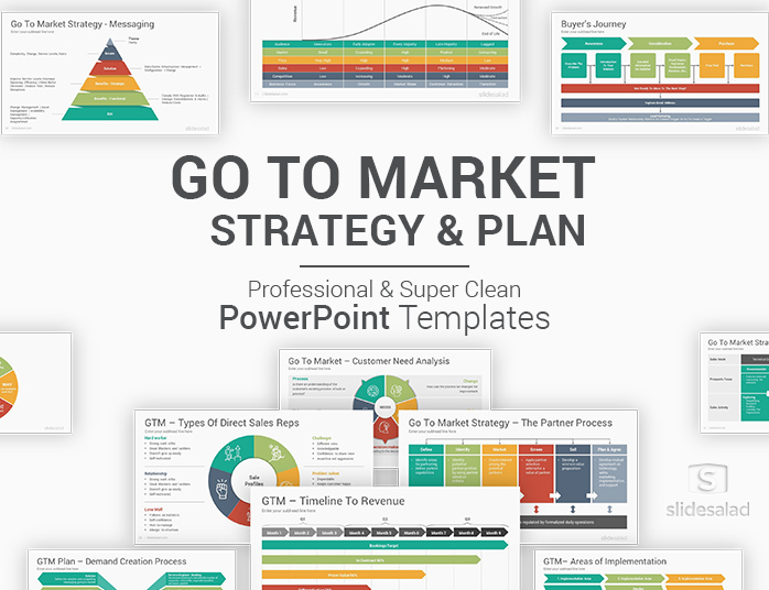 Go To Market Strategy And Plan Powerpoint Templates Slidesalad