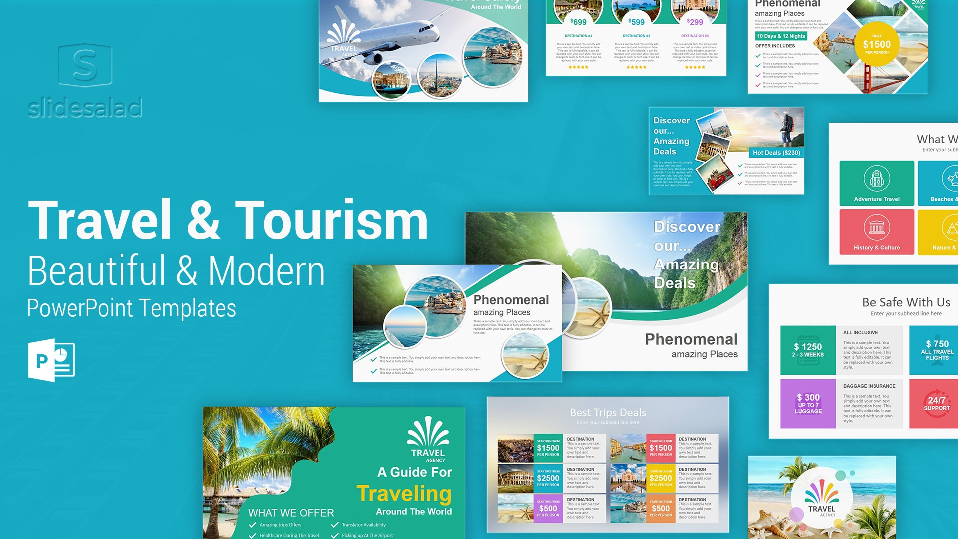 Travel and Tourism PowerPoint Presentation Template - Beautiful Modern PowerPoint Templates