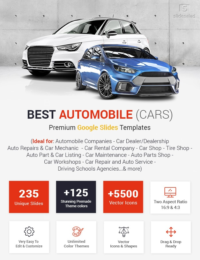 Best Automobile Google Slides Templates