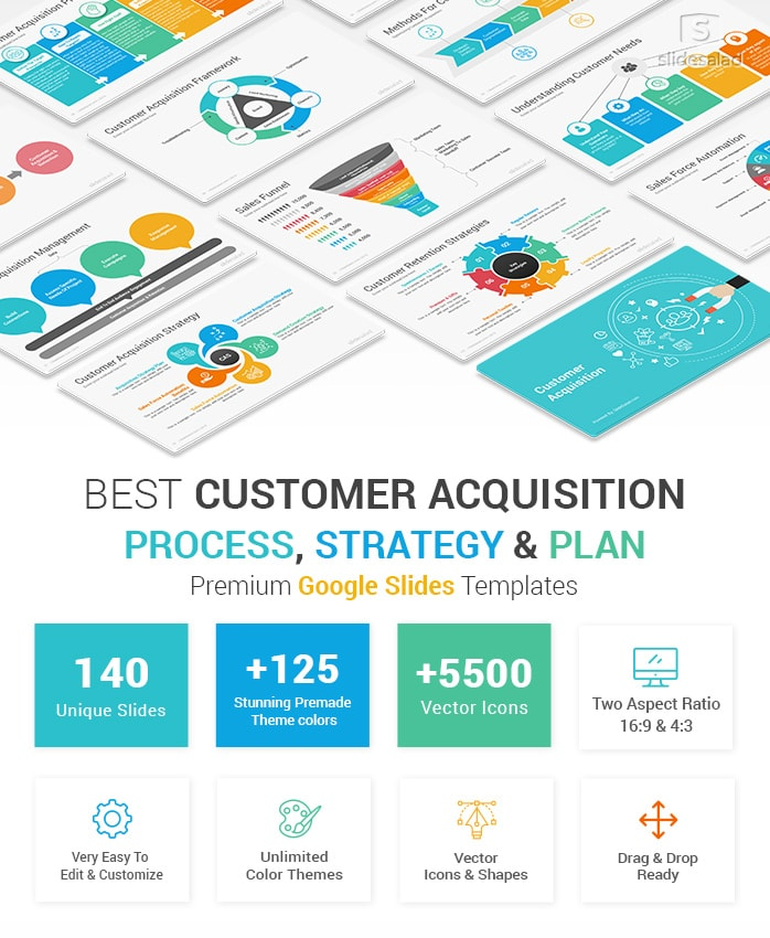 Customer Acquisition Strategy and Plan Google Slides Templates Diagrams