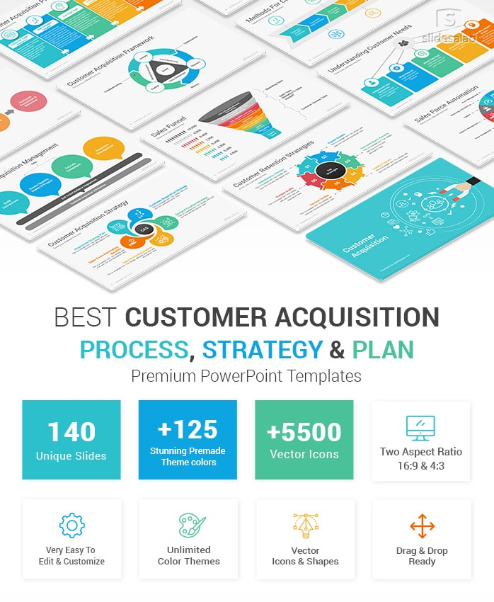 Customer Acquisition Strategy and Plan PowerPoint Templates Diagrams