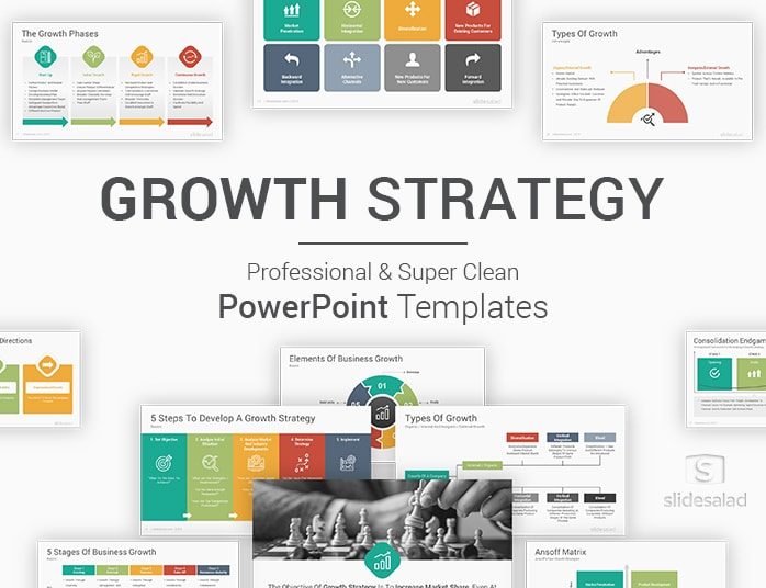 Growth Strategy Powerpoint Template Slidesalad