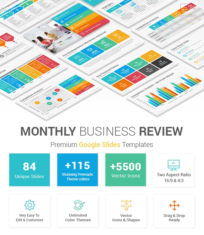 Monthly Business Review Google Slides Template