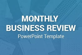 Monthly Business Review PowerPoint Template