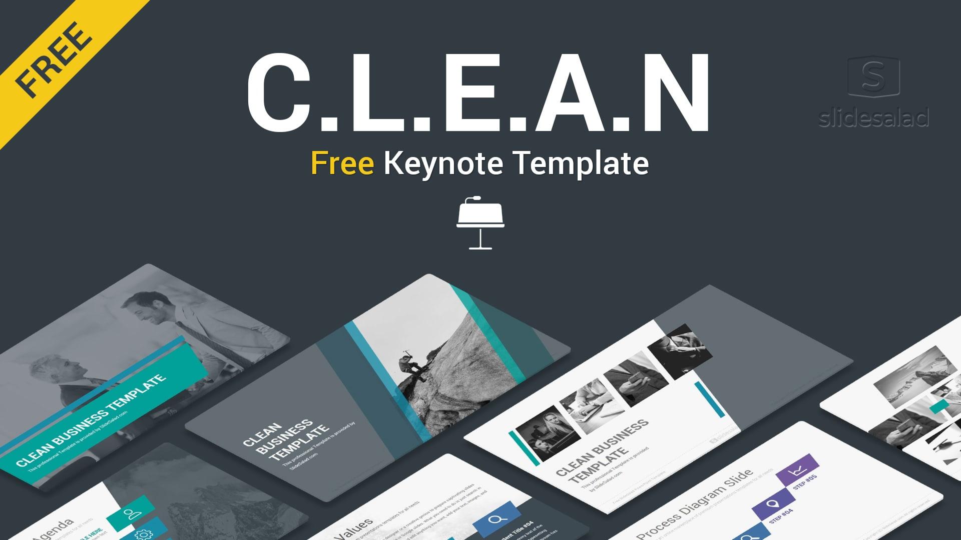 Clean Free Keynote Template - Free Download