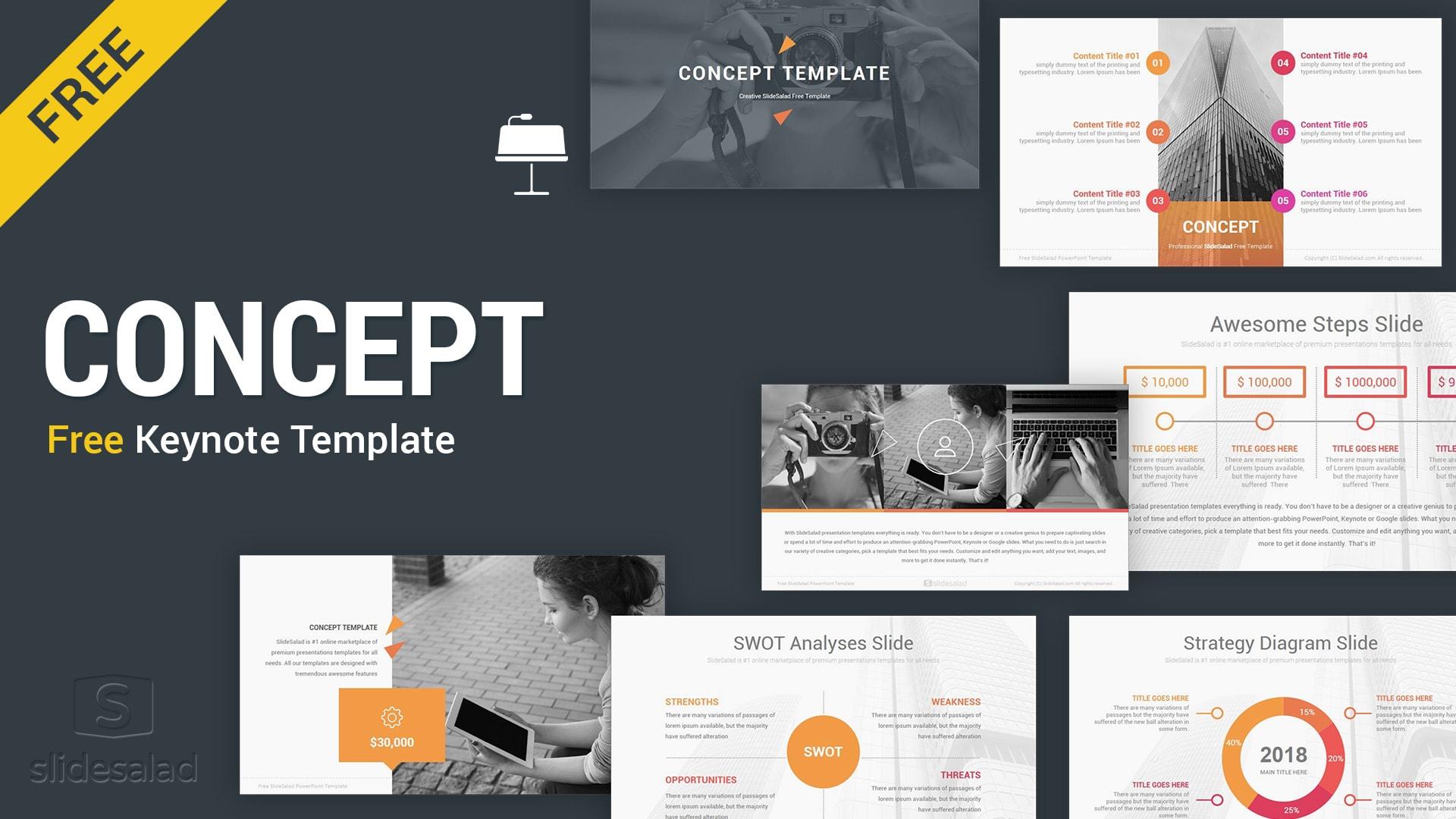 Concept Free Keynote Presentation Template Free Download