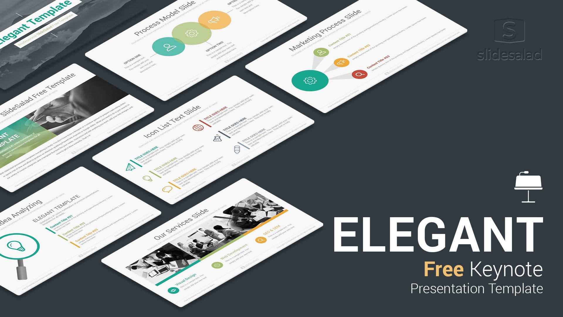 elegant free download keynote templates for presentation