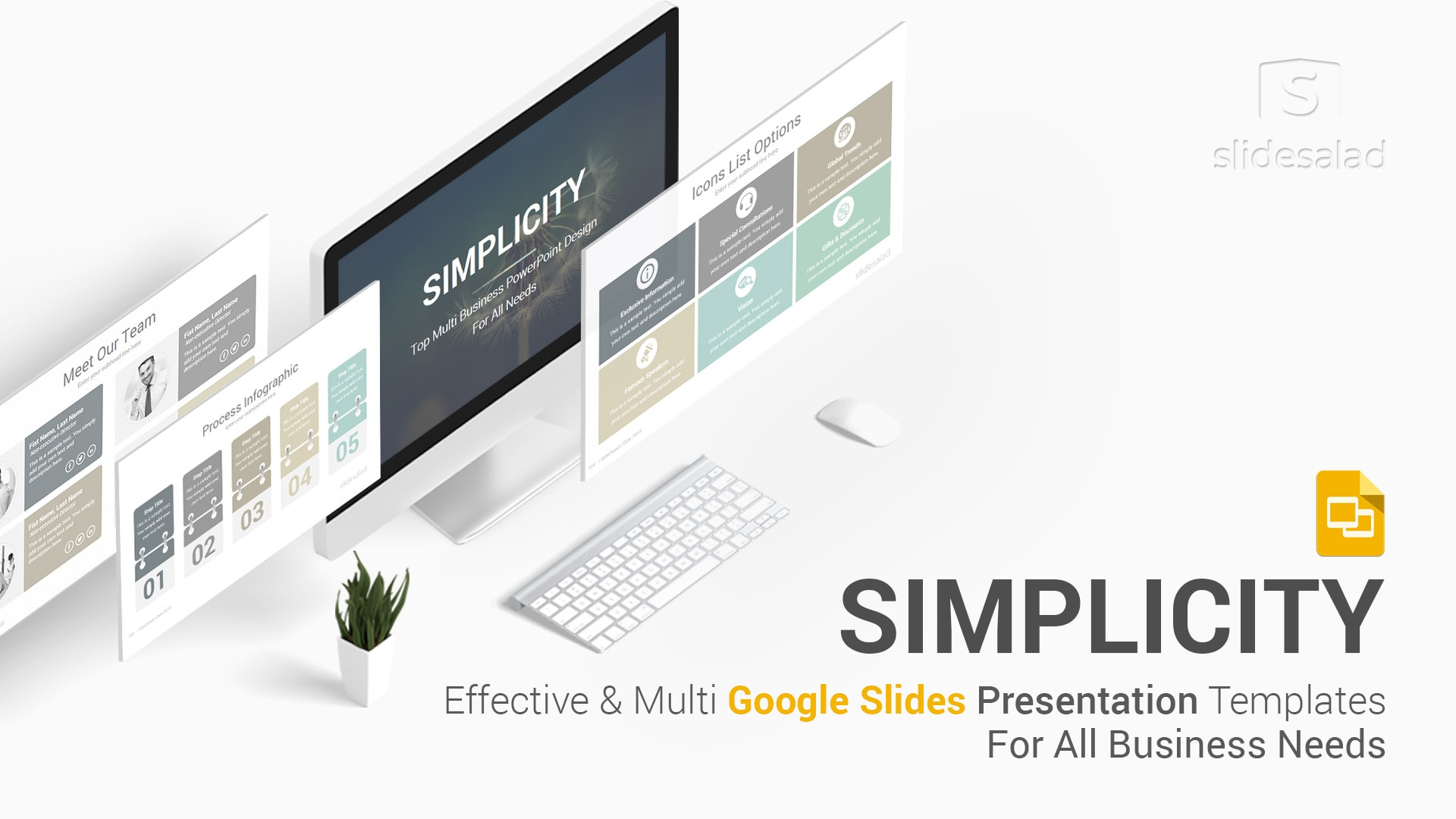 Simplicity Professional Business Google Slides Templates