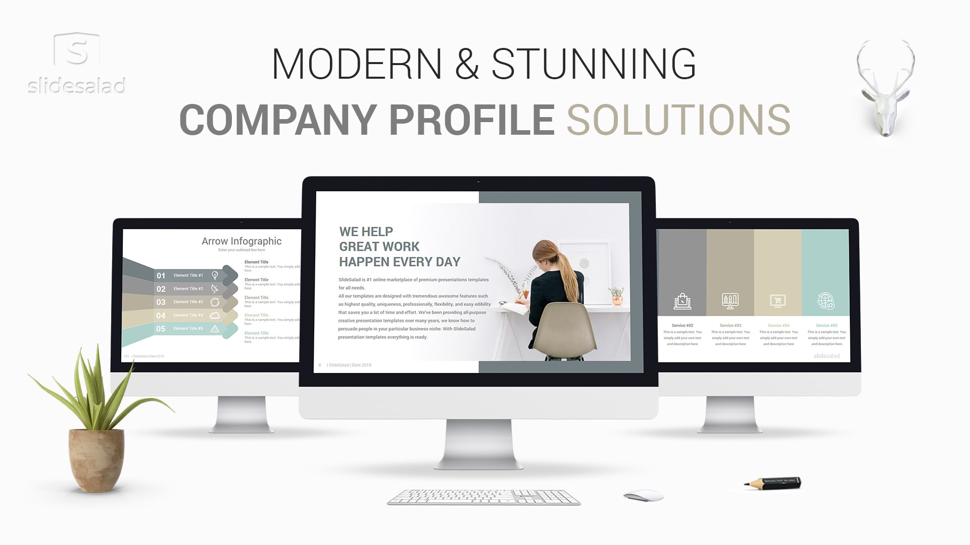 Modern Company Profile PowerPoint Template Designs - Create Clean Business Profiles Professionally