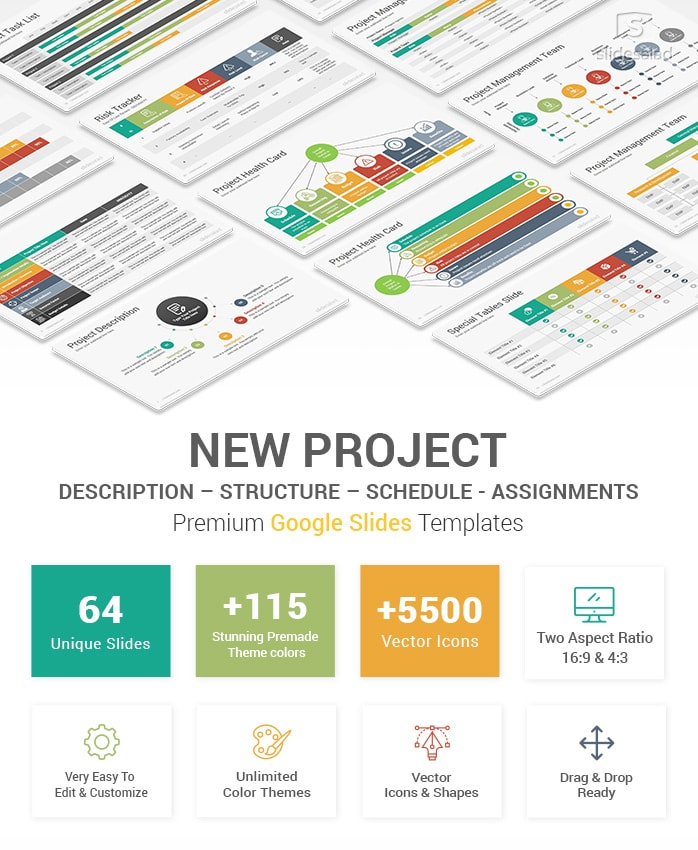 New Project Description And Report Google Slides Template