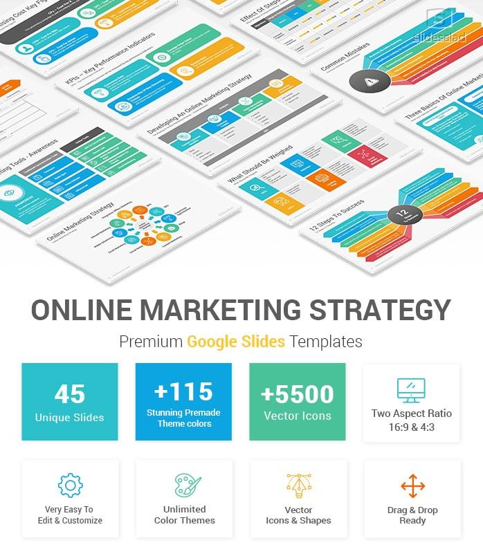 Online Marketing Strategy Google Slides Template