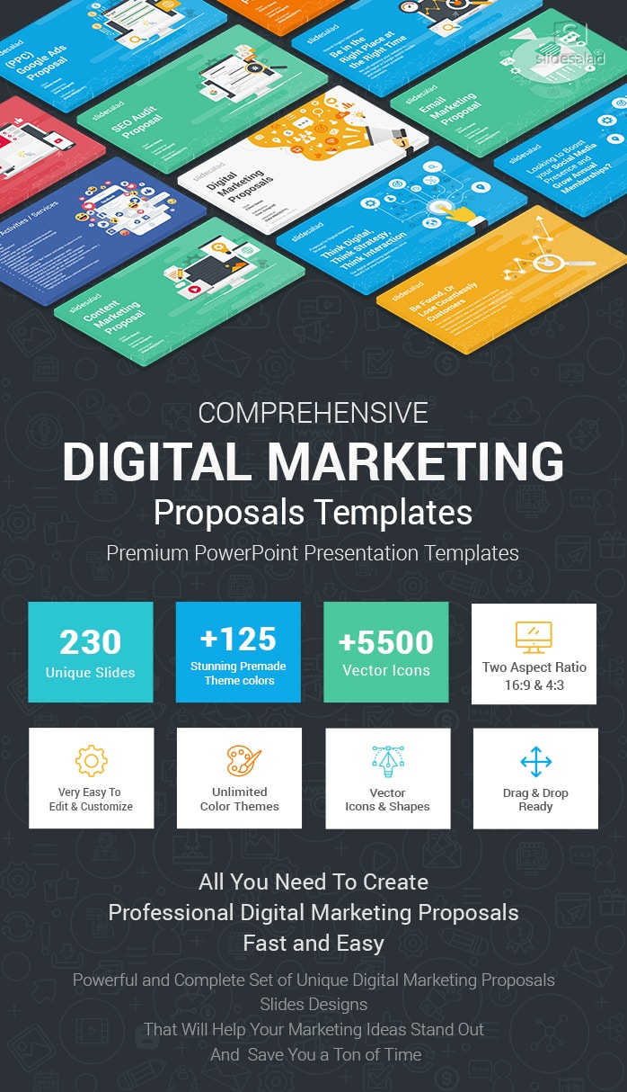 Best Digital Marketing Proposals Powerpoint Templates
