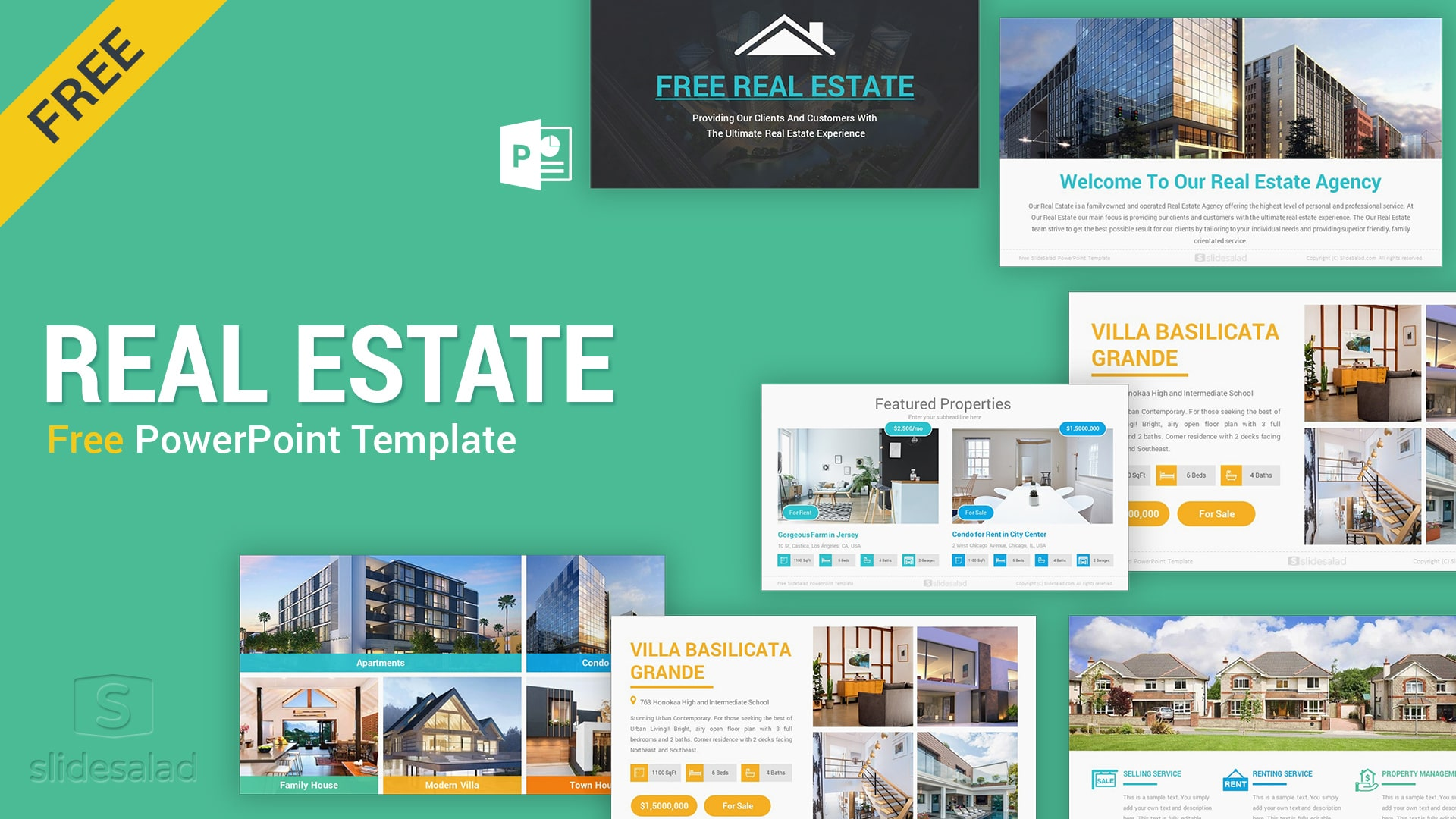 Free Real Estate Powerpoint Template Design Slidesalad