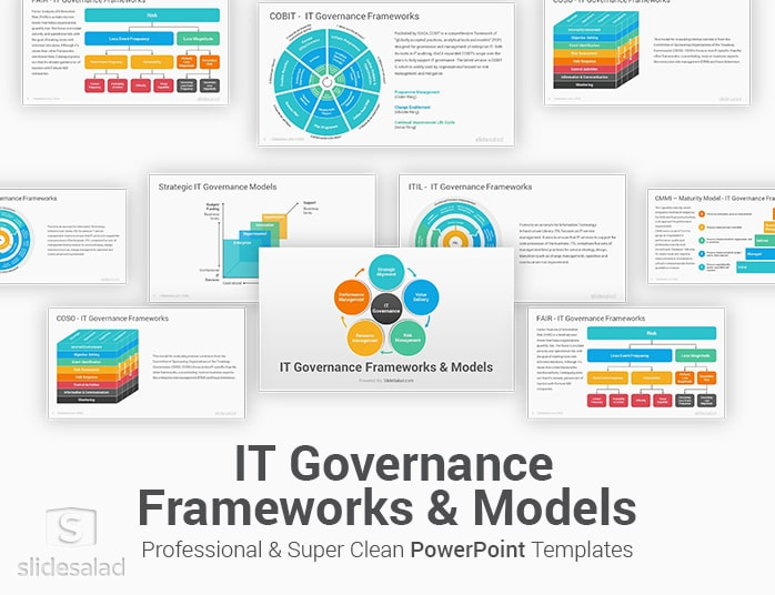It Governance Frameworks Powerpoint Template Diagrams Slidesalad