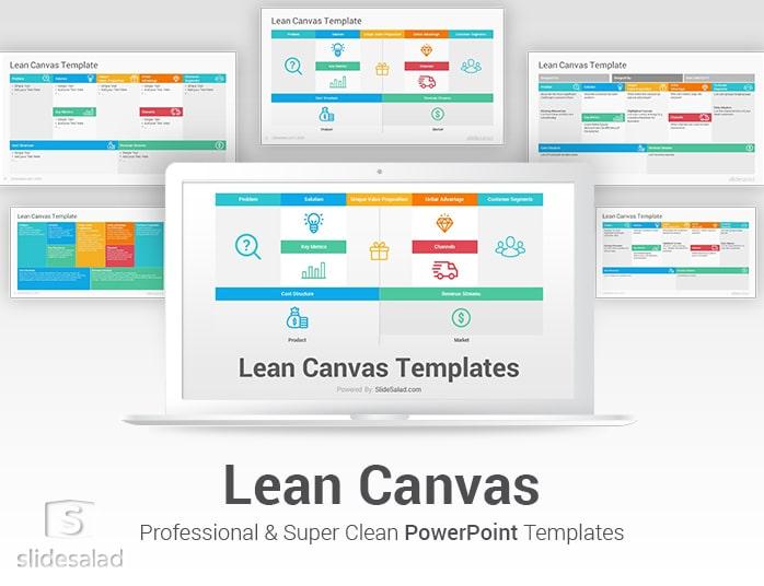 Lean Canvas Powerpoint Template Slidesalad