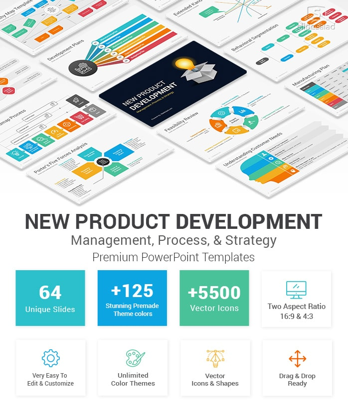 new product development powerpoint template design