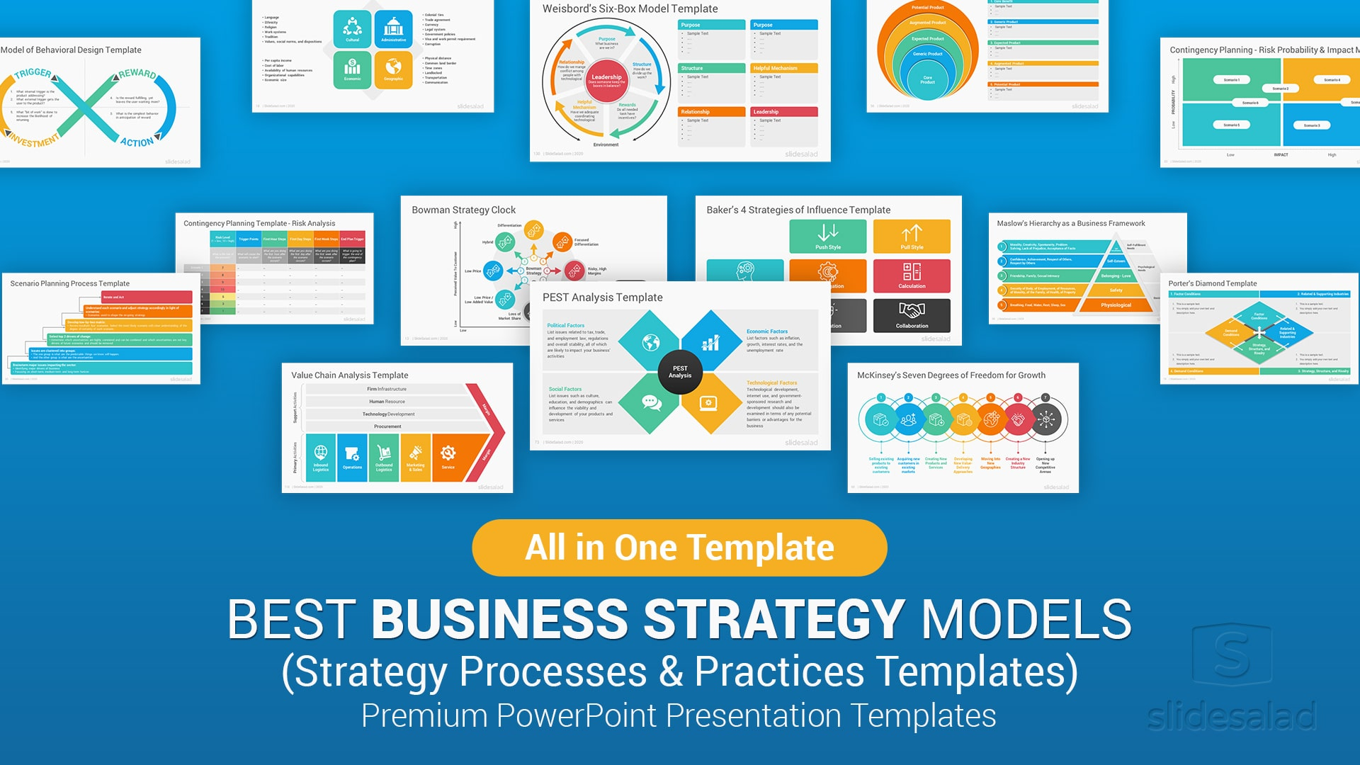 100 Best Business Strategy Powerpoint Ppt Templates For Presentations For 2021 Slidesalad